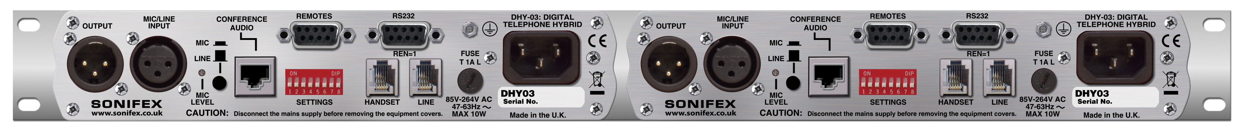 Sonifex Dhy 03s Digital Telephone Hybrid Circuit High Resolution Image Of Rear View