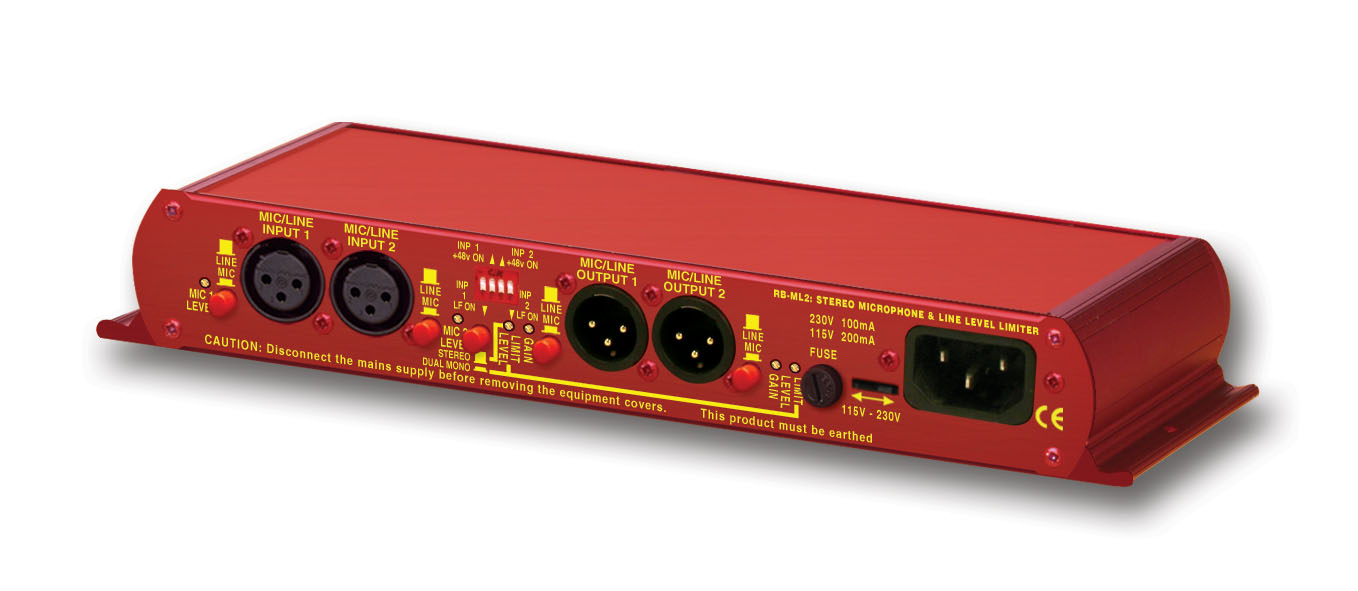 Sonifex Rb Ml2 Stereo Microphone And Line Level Limiter Noise Circuit High Resolution Image Of Iso View