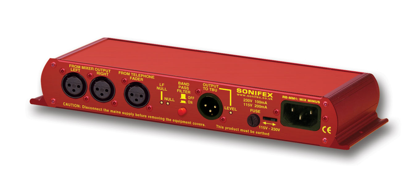 Sonifex Rb Mm1 Mix Minus Generator Audio Signal 1khz 22khz High Resolution Image Of Iso View