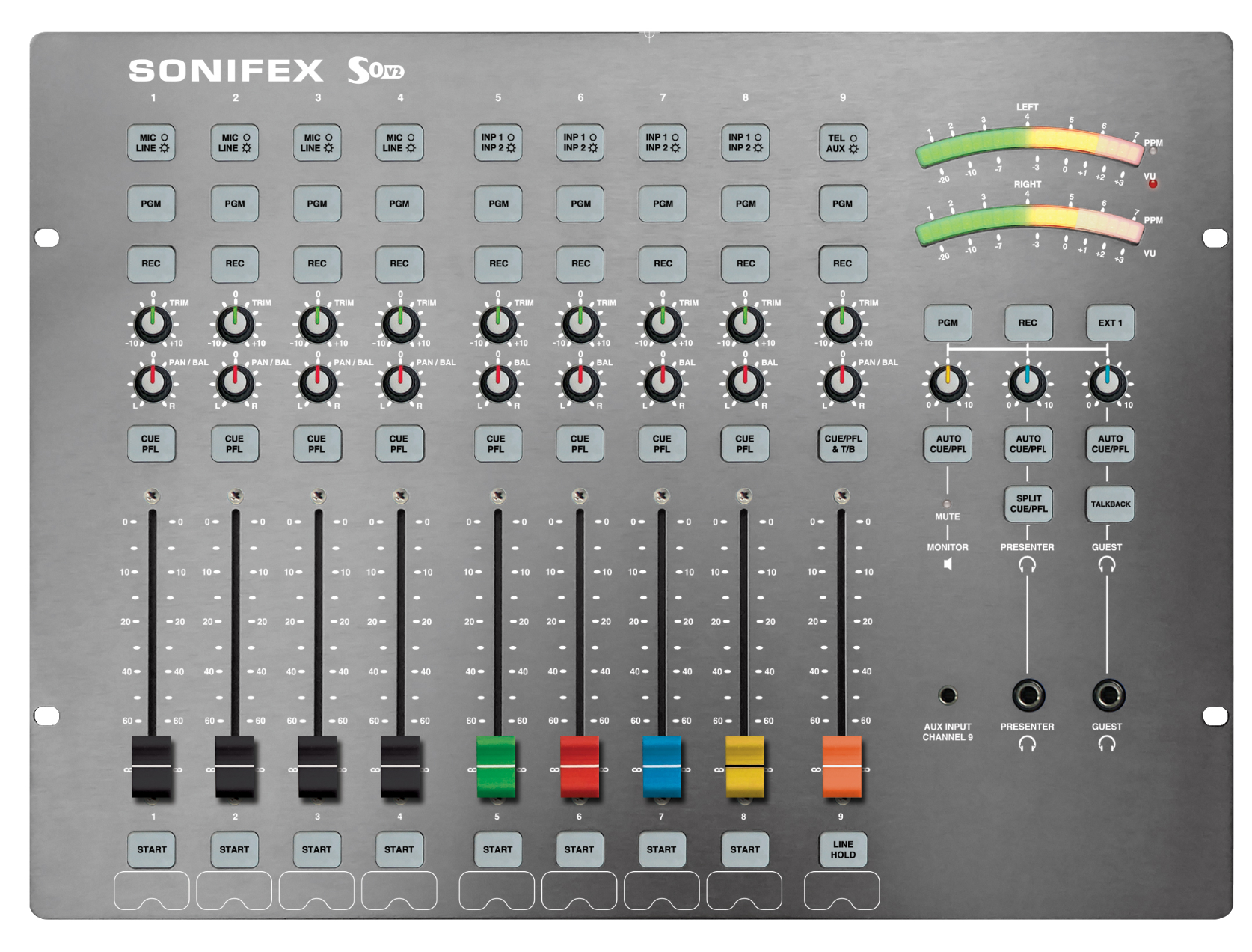 Sonifex S0v2 Digital Analogue Radio Broadcast Mixer Hybrid Telephone Circuit Hands Over Tech High Resolution Top
