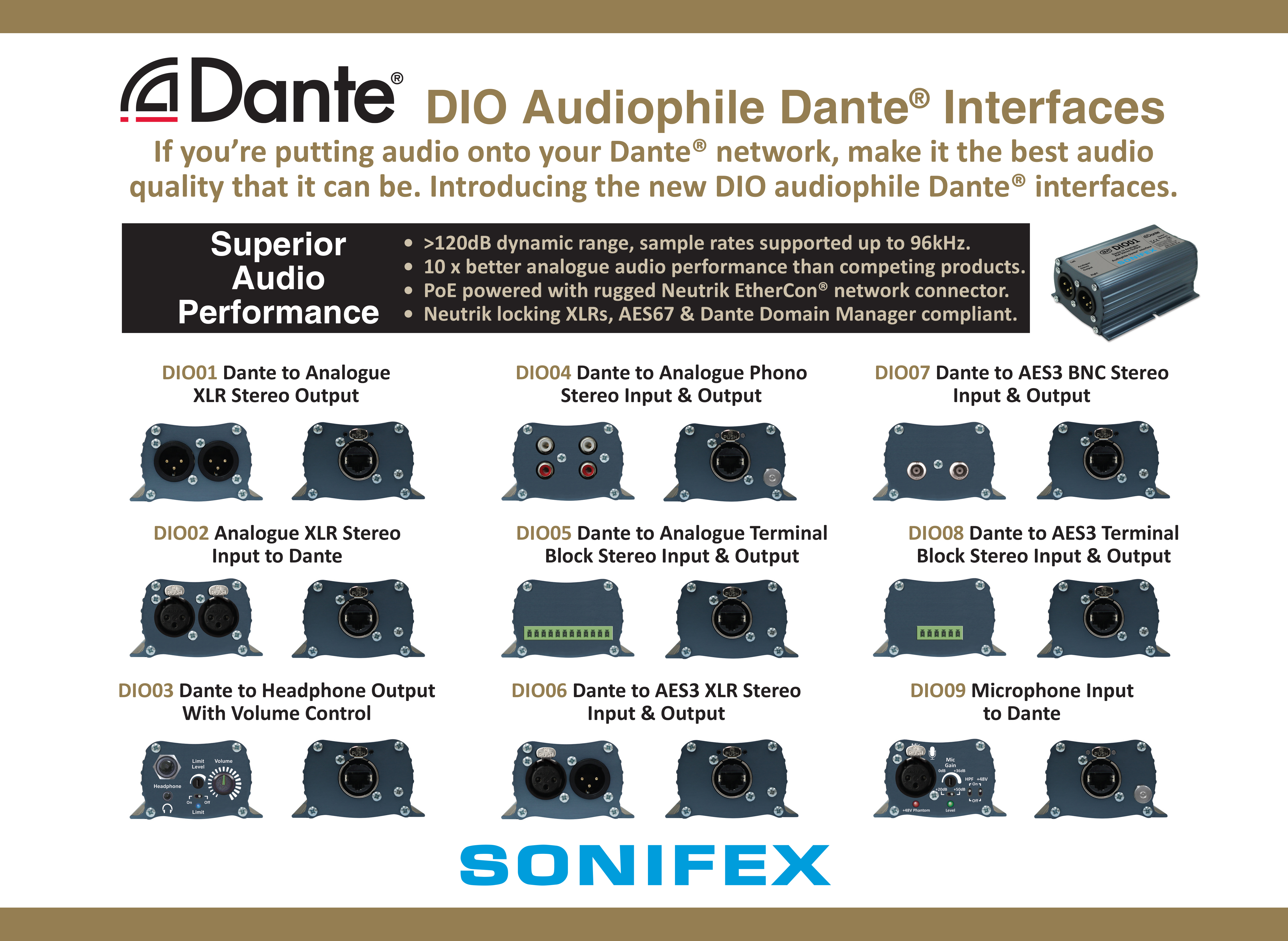 Welcome to Sonifex - Manufacturers of Broadcast Audio