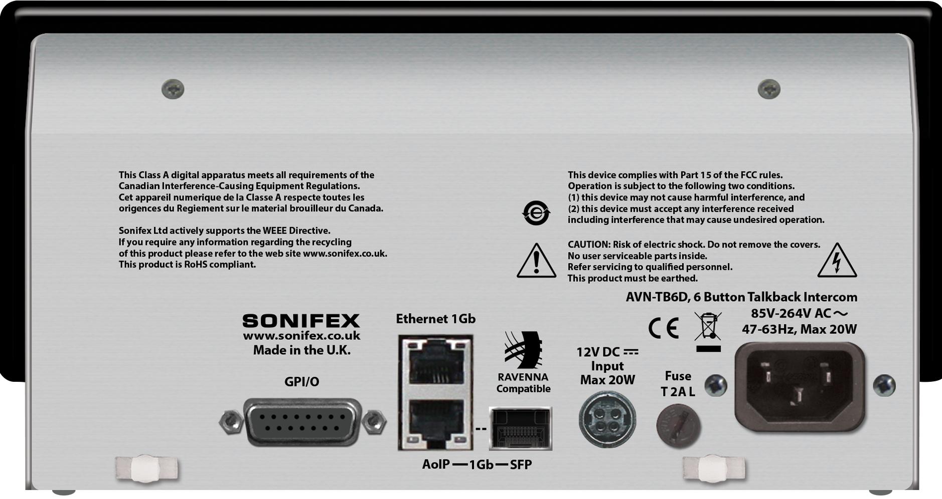 Sonifex Catalogues Handbooks Logos Images Open Electrical Panels Are Dangerous C Daniel Friedman Aoip