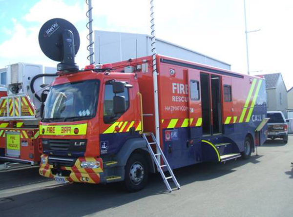 new zealand fire service command vehicle fitted with the sonifex net