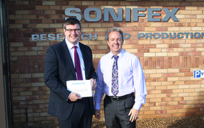 Andy Sawford MP at Sonifex