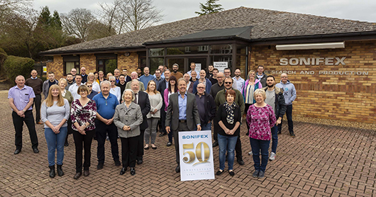 Sonifex 50 year Anniversay Staff Photo